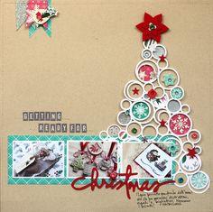 #papercraft #scrapbooking #layout    Silhouette Cut Christmas Tree
