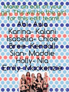 I have posted this for Keely for the same reason as the Edit Team!!