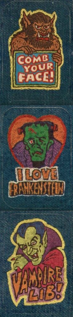 vintage monster patches