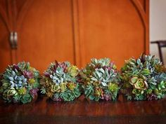Organic Succulent Bridesmaid Bouquets | Green Bride Guide