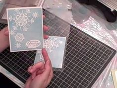 Here's a fun and magical way to use Stampin' Up!s Big Shot and Northern Flurry embossing folder. For a complete list of the supplies and measurements, for a ...