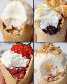 Pie Cones Four Ways