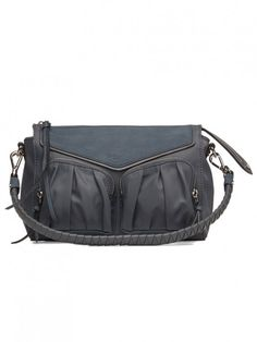 f889694ff MZ Wallace Thompson Crossbody Bag in Harbor Bedford Wallace Silver,  Everyday Bag, Italian Leather