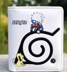 Naruto cool fashion high quality Kakashi purse white version