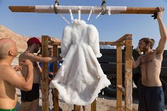 Artist Leaves Dress In The Dead Sea For 2 Months And It Turns Into Glittering…