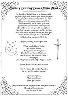 culture of Wicca and Pagan community Moon Spells, Magick Spells, Wicca Witchcraft, Witch Spell, Pagan Witch, Drawing Down The Moon, Moon Drawing, Full Moon Ritual, Eclectic Witch
