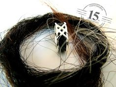 Horsehair ring nannasalmi horsehair jewelry the original collection www.nannasalmi.com Horse Hair Jewelry, Horsehair, The Originals, Hair Styles, Rings, Beauty, Collection, Hair Plait Styles, Hairdos