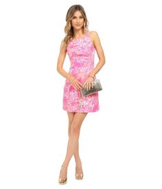 Lilly Pulitzer Simone Shift Dress Cheeky Melon Rule Breakers S 4