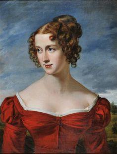 Joseph Karl Stieler (1781-1858). Lady in Red, c.1840