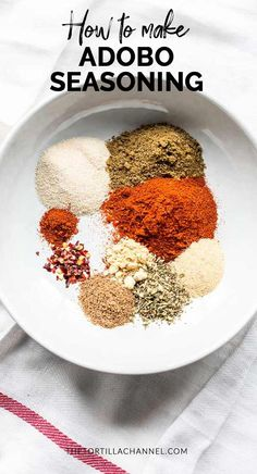 Adobo seasoning is a dry spice mix for all your Mexican beef, chicken, pork or fish recipes. Especially for grill recipes you can use this spice blend. Visit thetortillachanne… for the full recipe. Source by thetortillachannel Homemade Spice Blends, Homemade Spices, Homemade Seasonings, Spice Mixes, Adobo Seasoning, Seasoning Mixes, Fish Seasoning Recipe, Grill Recipes, Fish Recipes