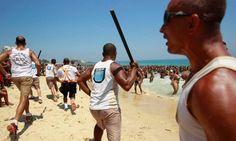 Banhistas são alvos de arrastões nas areias de Ipanema, neste domingo de praias lotadas +http://brml.co/1smx32C