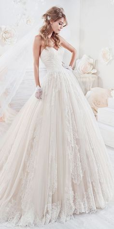 Beautiful And Romantic Nicole Spose Wedding Dresses 2018 ❤ pink ball gown with. Wedding Dress Organza, Wedding Dresses 2018, Princess Wedding Dresses, Bridal Dresses, Tulle Wedding, Gown Wedding, Making A Wedding Dress, The Dress, Beautiful Dresses