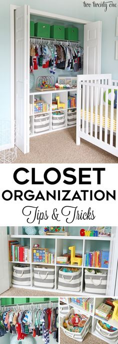 GREAT tips and tricks for an organized closet!