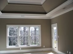 Painted Tray Ceiling With Crown Molding Bedroom Ceilings Pinterest