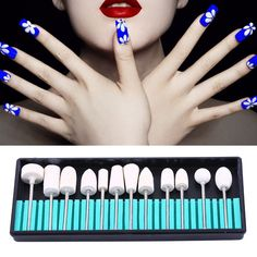 Pro Nail Art Electric File Stainless Steel Drill Bit Head Manicure Machine Tools #Unbranded