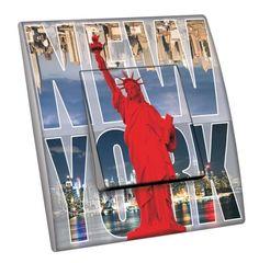 Interrupteur décoré Villes - Voyages / New York 7 simple - Decorupteur