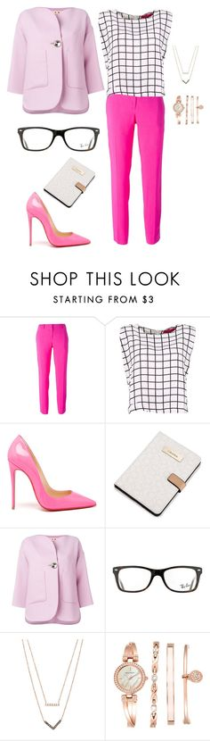 """Chanel #6"" by irishka-001 on Polyvore featuring косметика, N°21, Christian Louboutin, Calvin Klein, Marni, Ray-Ban, Michael Kors и Anne Klein"