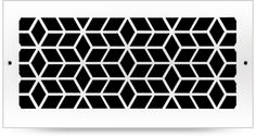 Check out the Custom Metal Vent Covers - Industrial Pattern in from Pacific Register Co. Wall Vent Covers, Laser Cut Aluminum, Decorative Screen Panels, Register Covers, Cnc Cutting Design, Privacy Panels, Industrial Interior Design, Massage Room, Custom Metal