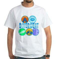 #DIVERGENT T-Shirt #Abnegation, for the selfless; #Amity, for the peaceful; #Candor, for the honest; #Dauntless, for the brave; and #Erudite, for the Intelligent. #Cafepress