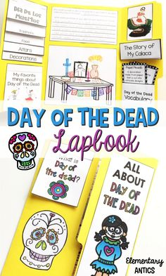 Enhance your study of Day of the Dead with this lapbook activity! Dia de los muertos is brought to life!