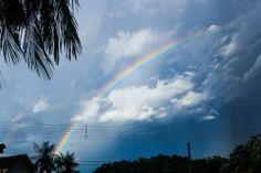 Beauty rainbow before the storm in Blumenau