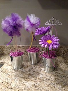 Sofia the First centerpiece tulle topiary