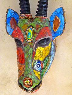 Mosaic animal head www.riotofcoloursmosaic.com