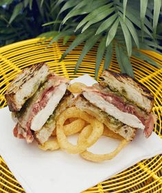 Grilled Chicken and Prosciutto on Ciabatta With Pesto and Fontina | Chicken is a dinnertime staple for a reason—it's delicious and easy to cook in a hurry.