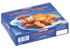 #Verkaufsverpackung für Chicken Nuggets • 4-färbiger #Offsetdruck • #Offsetkaschiert • #Migrationsunbedenklich • #Kühlraumtauglich • #Dinkhauser Kartonagen, #Lebensmittelverpackungen