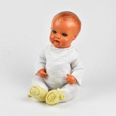 alte Schildkröt Puppe 35 - Kippstimme - Schlafaugen - Strampler- Vintage Doll #2 | eBay