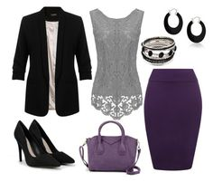 """Purple and Grey"" by meeshtell on Polyvore featuring WearAll, Miss Selfridge, CHARLES & KEITH and Bling Jewelry"