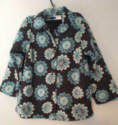 3311709c771 Hanna Andersson Coat 120 6 7 Floral Swing Jacket Gray Blue Sparkle Soft   HannaAndersson