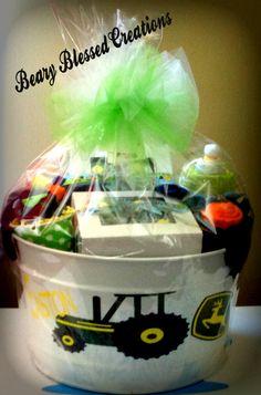 John Deere Baby Gift , Baby Gift Bucket, Baby Shower Gift, Baby Gift, Personalized Baby Gift
