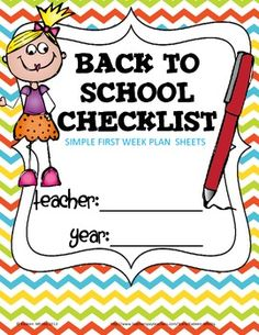 BACK TO SCHOOL CHECKLIST AND QUICK PLANS FREEBIE