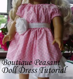 PACountryCrafts: Boutique Peasant (Doll) Dress Tutorial with matching girl's dress