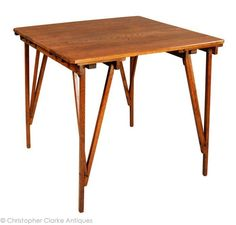 Antique Cajac Patent Folding Table, early 20th century - Christopher Clarke