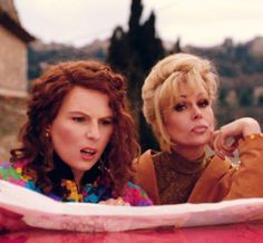Absolutely Fabulous, my absolute favorite television show of all time. Jennifer Saunders, Absolutely Fabulous Quotes, Absolutely Fabulous Birthday, Ab Fab Movie, Edina Monsoon, Patsy And Edina, British Comedy, British Humor, Patsy Stone
