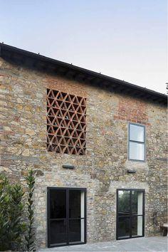 Un vecchio fienile trasformato in abitazione a Firenze