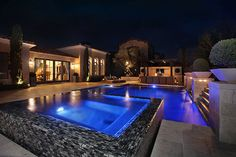 A nice elegant pool for relaxing day and night.