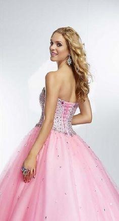Fashion Ball Gown Sleeveless Long Pink Natural Evening Dresses klkdresses16540dfe #longdress #promdress