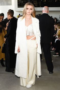 The art of dressing after dark shown off by Abby Lee Kershaw Gwyneth Paltrow Emily Ratajkowski and more. See the full list: Cute Fashion, Spring Fashion, Women's Fashion, Abbey Lee Kershaw, Neutral Outfit, Calvin Klein Collection, Evening Outfits, Fashion Seasons, Fashion Stylist