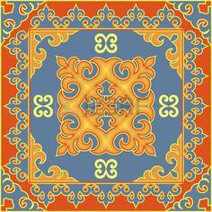 buryat: Asian style ethnic pattern. Mongolian, Buryat, Kalmyk, Kazakh traditional ornamental motifs