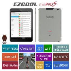 """EZCOOL miniPAD S 1GB 16GB QUADCORE 7.9"""" IPS TABLET"""