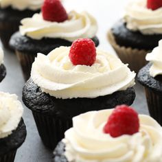VIDEO: Healthier Chocolate Cupcakes with Honey Whipped Cream Frosting - Fit Foodie Finds