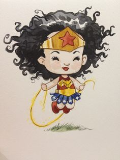 jillthompson:  Toronto Fan Expo is a great comic Con- the only downside to it is it's held 500 feet below ground and there's no wifi for Square payment access!!! So I am only now able to upload some convention drawings I did courtesy of the civilized and wonderful Porter Airlines. First up- Chibi WonderWoman