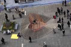 Brooklyn-based design firm Situ Studio created Heartwalk, a heart-shaped enclosure made from boardwalk boards salvaged from the aftermath of Hurricane Sandy.  via My Modern Metropolis