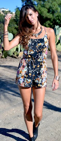 Floral Kira Romper by Lace & Whiskey