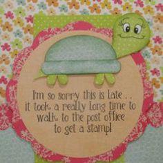 Slowpoke Belated Birthday Card | AllFreePaperCrafts.com