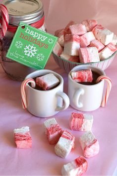 Peppermint Candycane Marshmallows?! - YUMMY in some homemade hot chocolate!!