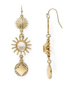 $AQUA Busy Starburst Sparkle Drop Earrings - Bloomingdale's
